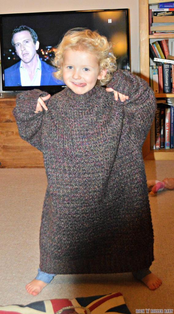 Great jumper dress Jim-bob - well styled!