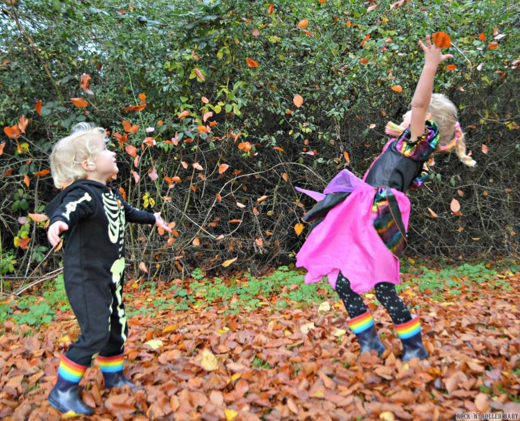 A game with just the fallen leaves can be mega fun!