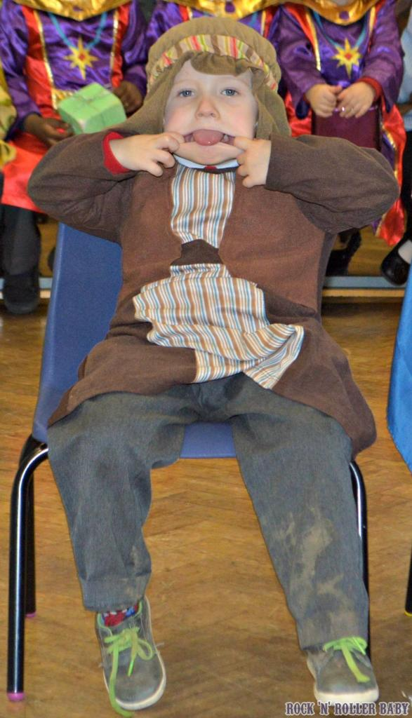 Jimmy pulling faces when he was meant to be 'in character'!