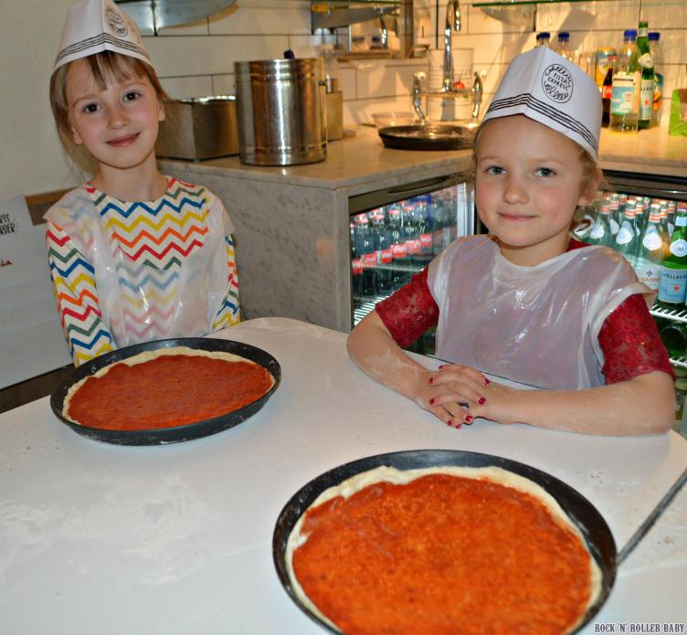 Florence and her friend from Mummy Matters having fun at the pizza making party!
