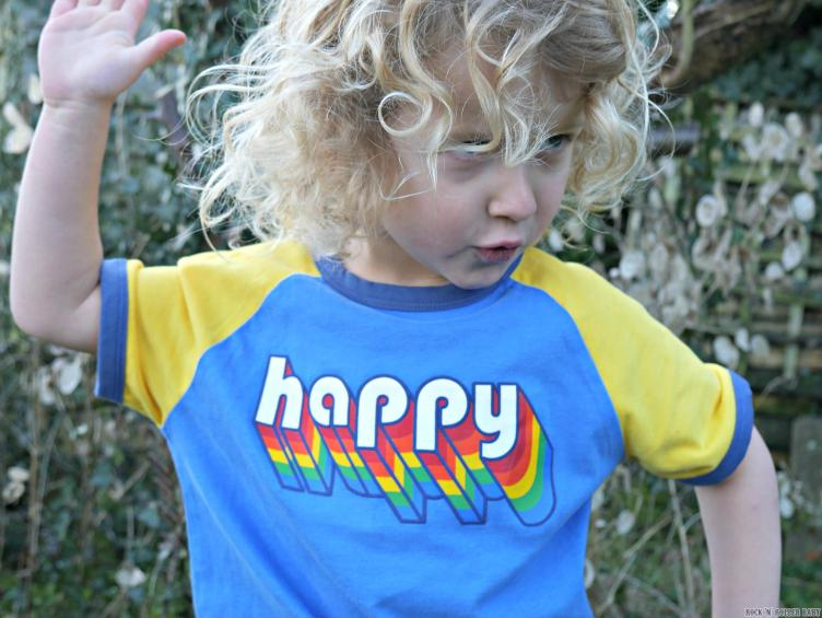 And here's Jimmy in his 'Happy' T-Shirt (£&-£9). Isn't it gorgeous!