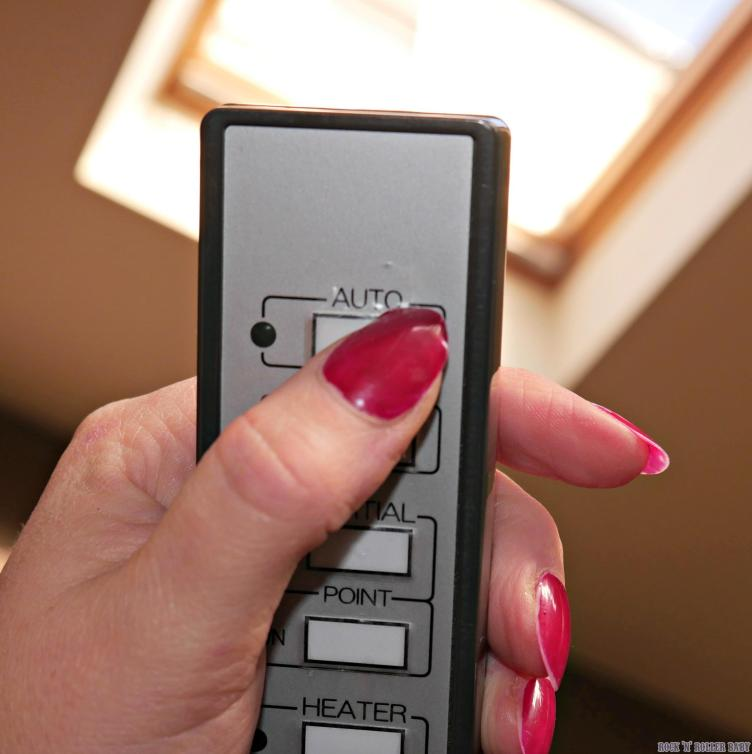 Control the settings and heat (which is amazing) using a remote control) as you lie down!