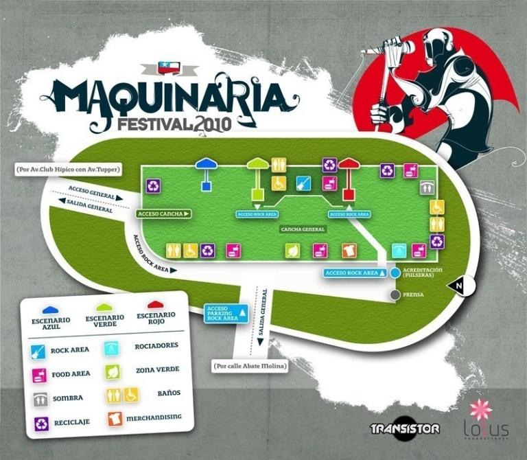 Plano - Maquinaria Festival Chile 2010