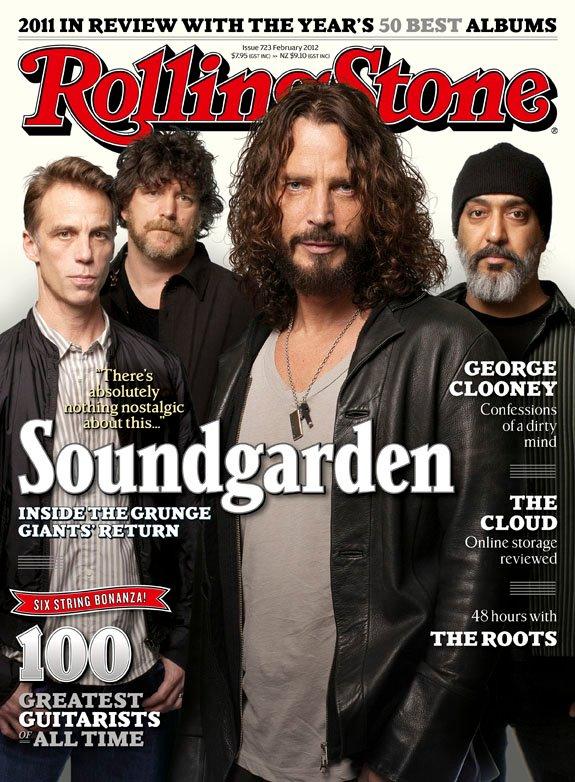 Soundgarden en la portada de la Rolling Stone (enero 2012)