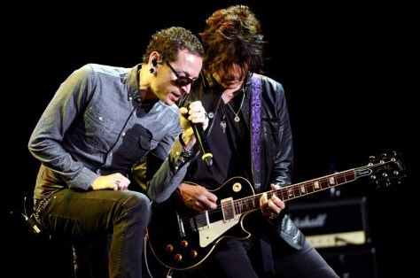 Stone Temple Pilots con Chester Bennington   Fotógrafo: Kevin Winter