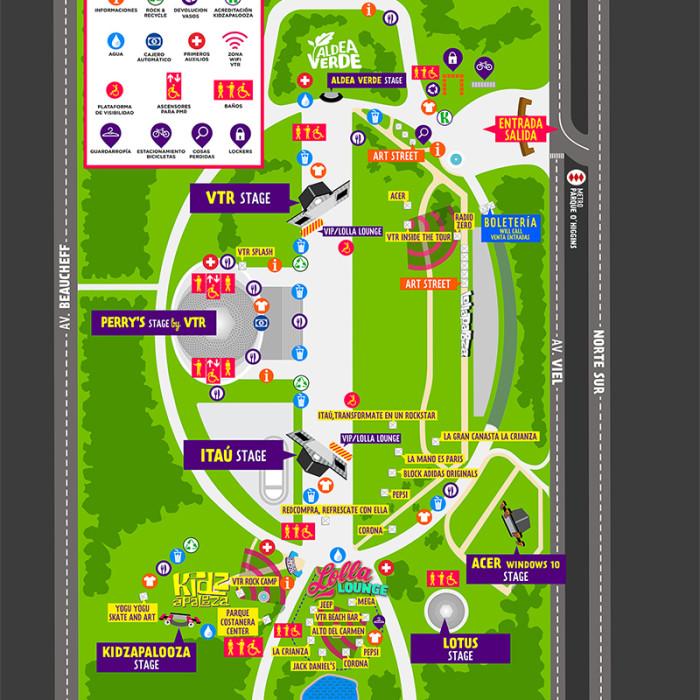 Lollapalooza Chile 2016 mapa