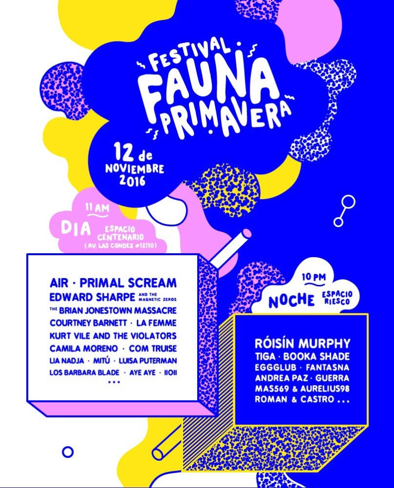 Fauna Primavera 2016 cartel