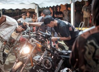 Skalputride event kustom bike