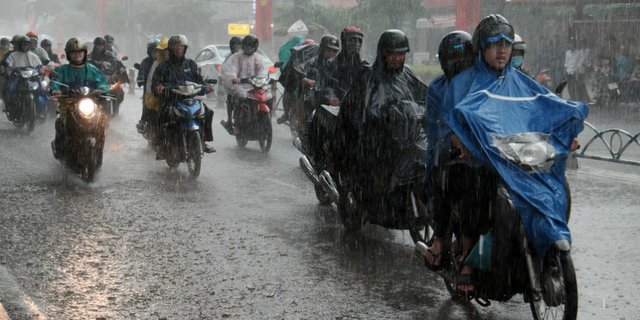 Jas hujan ponco bikers