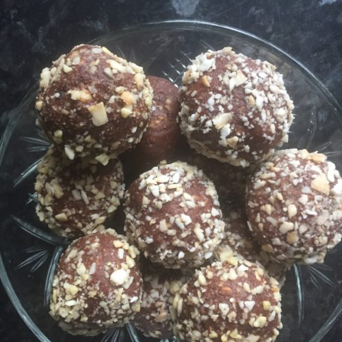 chocolate nut truffles