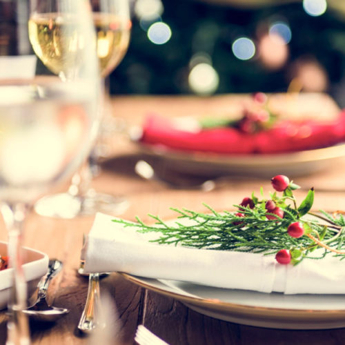 Healthy Holiday table