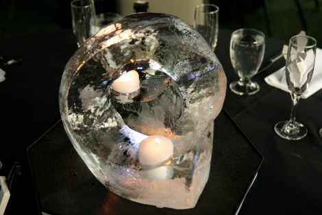 Ice Table Centerpiece with Candles