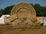 Sand Sculpture for Dublin Irish Festival