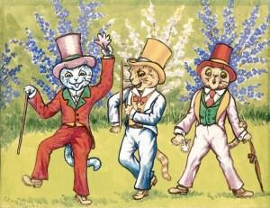 Louis Wain ilustrații pisici