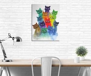 cadou pisici tablou