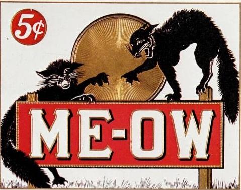 reclama veche la tigari cu pisici