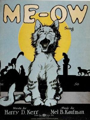 partitura pisici publicitate veche