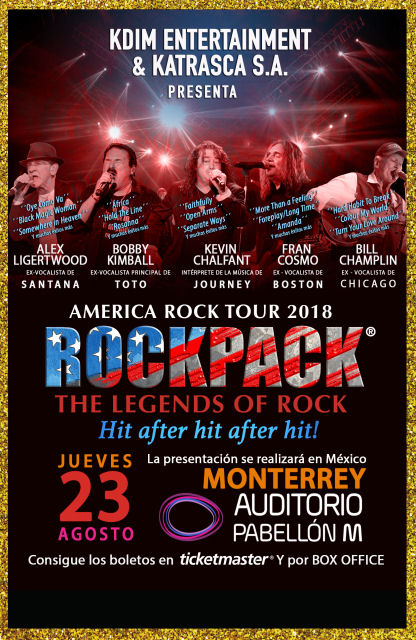 August 23, 2018 – ROCKPACK® in Monterrey
