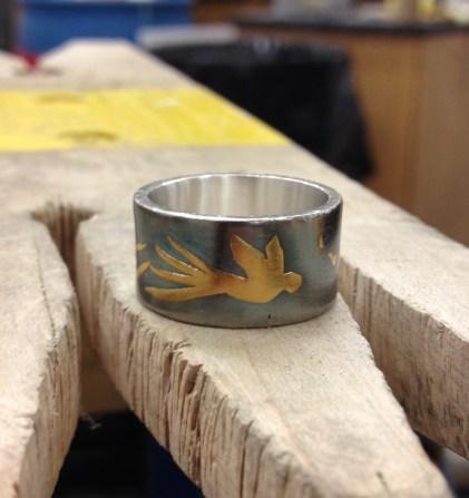 Keum Boo Bird Ring