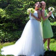 The bride and her maid of honor!