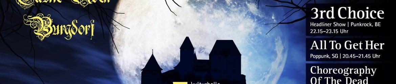 Programm Titelbild CastleRockBurgdorf Oktober 2019