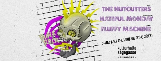 Punkrock mit The Nutcutters, Hateful Monday, Fluffy Machine