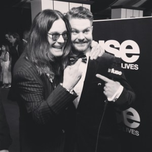 Ozzy and his son, Jack, after Grammy win!