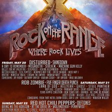 2016 ROCK ON THE RANGE SET TIMES