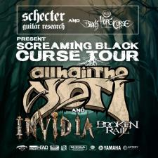 "ALL HAIL THE YETI Announces ""Screaming Black Curse"" Headline Tour with Invidia and Broken Rail to Support"