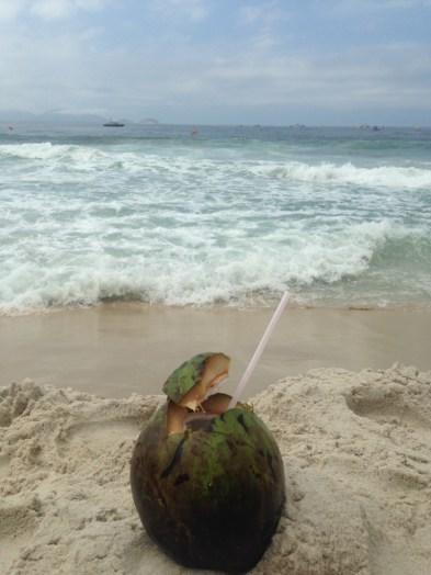 Post run refreshment- Rio style