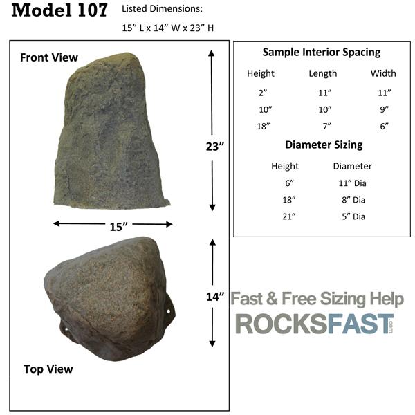 Dekorra Mock Rocks Model 107 Fake Rock