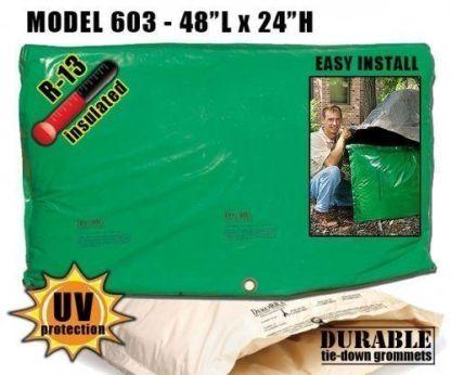 """Backflow Insulation Bag Blanket 48""""L x 24""""H - DekoRRa 603 Backflow Pouch"""