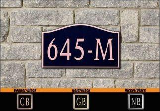 Dekorra Model 645 Personalized Address Plaque