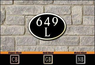 Dekorra Model 649 Personalized Address Plaque
