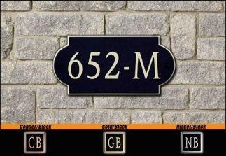 Dekorra Model 652 Personalized Address Plaque