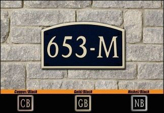 Dekorra Model 653 Personalized Address Plaque