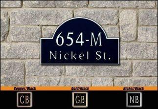 Dekorra Model 654 Personalized Address Plaque