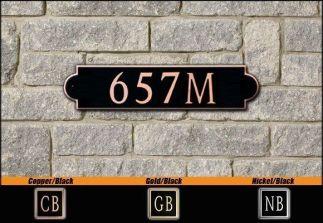 Dekorra Model 657 Personalized Address Plaque