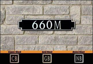 Dekorra Model 660 Personalized Address Plaque