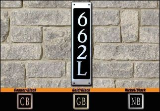 Dekorra Model 662V Personalized Address Plaque