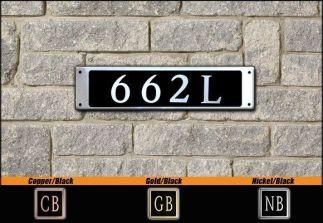Dekorra Model 662 Personalized Address Plaque