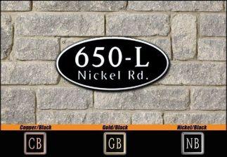 Dekorra Model 650 Personalized Address Plaque