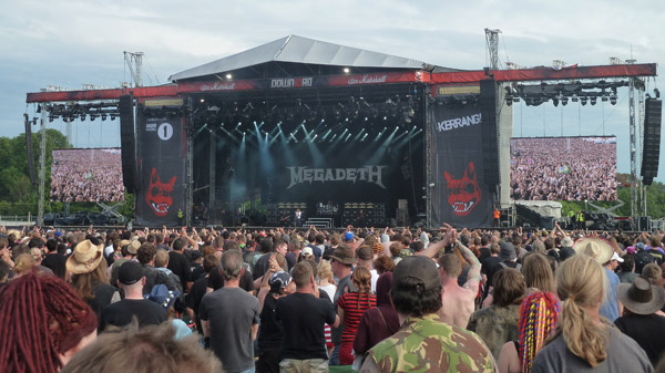 Megadeth performing at the Download Festival 2012