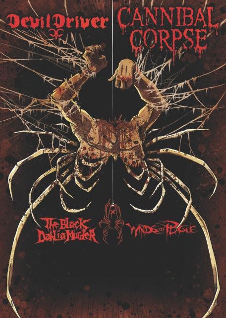 Devildriver Cannibal Corpse 2013 Tour Poster