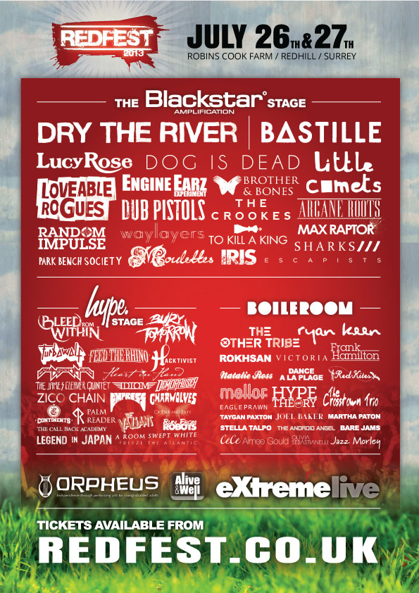 Redfest 2013 Lineup Poster