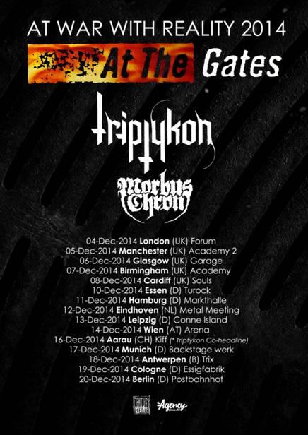 At The Gates Triptykon Morbus Chron UK European Tour Poster 2014
