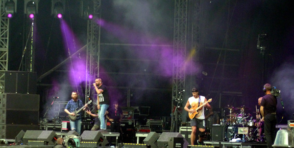 Killswitch Engage on stage at Download Festival 2014