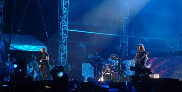 Metallica performing at Sonisphere Knebworth 2014