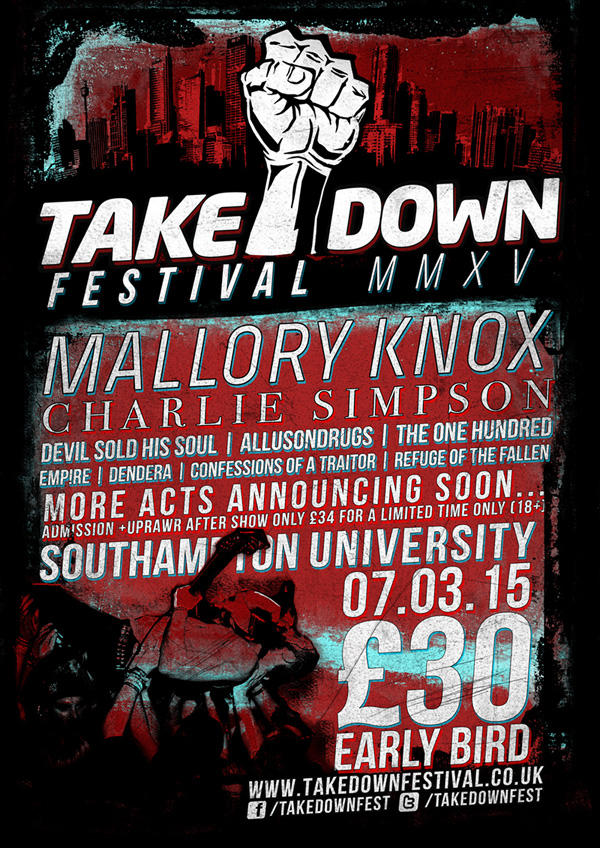 Takedown Festival 2015 Charlie Simpson Second Poster
