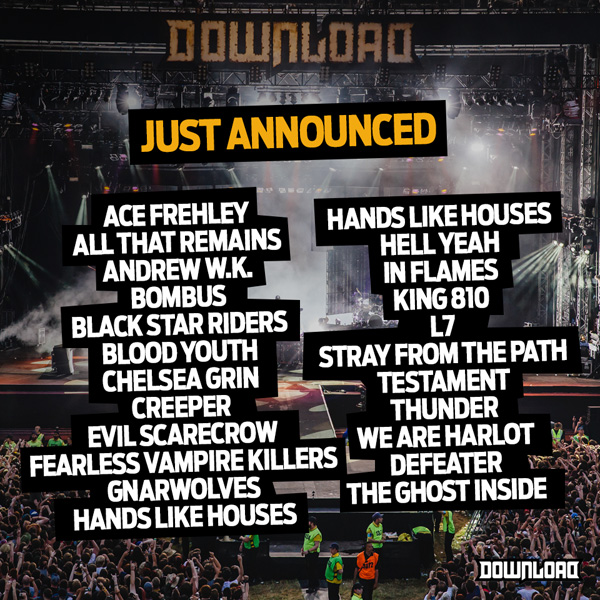 Download Festival 2015 January 28th Line Up Announcement
